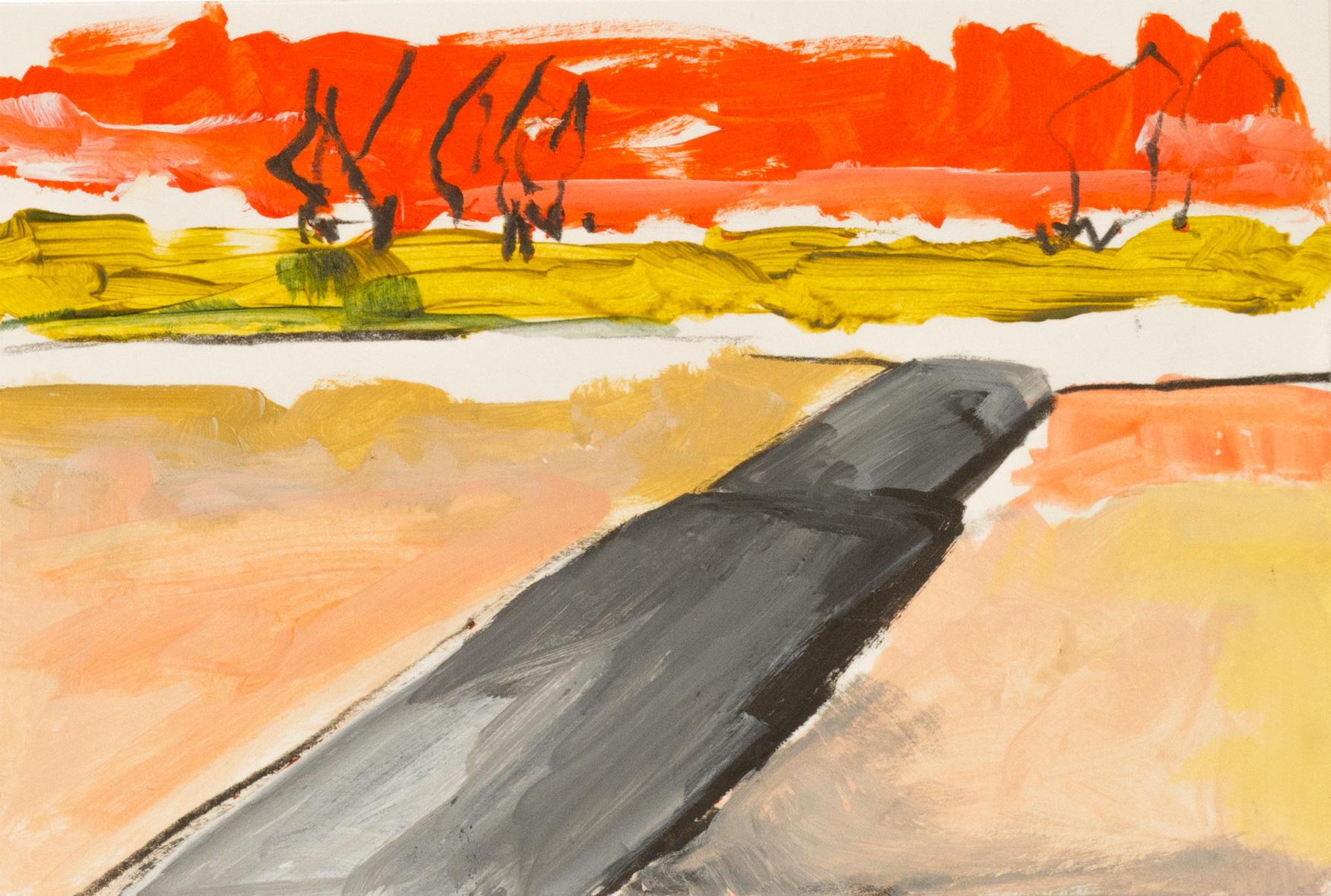 Landschaft, Panorama, 2008 Acryl und Pitt Oil Base auf Papier 10 x 133 cm Landschaft, Panorama, 2014 Acryl und Pitt Oil Base auf Papier 10 x 133 cm, Detail