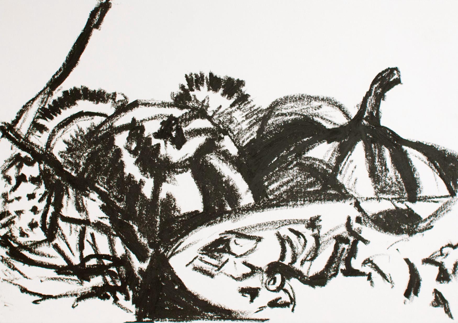 ohne Titel, 2013 Ölkreide auf Papier 29,5 x 42 cm