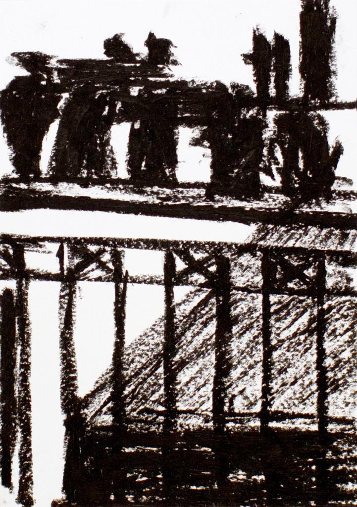 ohne Titel, 2010 Ölkreide auf Papier15 x 21 cm
