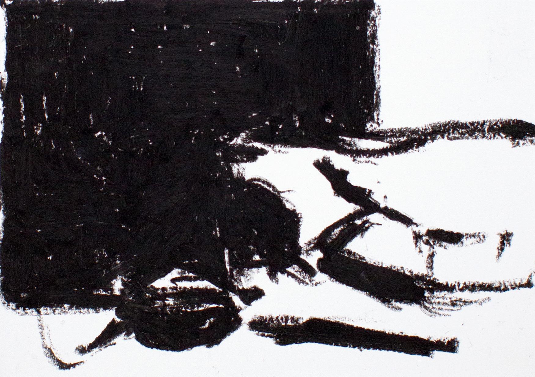 Rosengehäus', 2009 Ölkreide auf Papier 15 x 21 cm