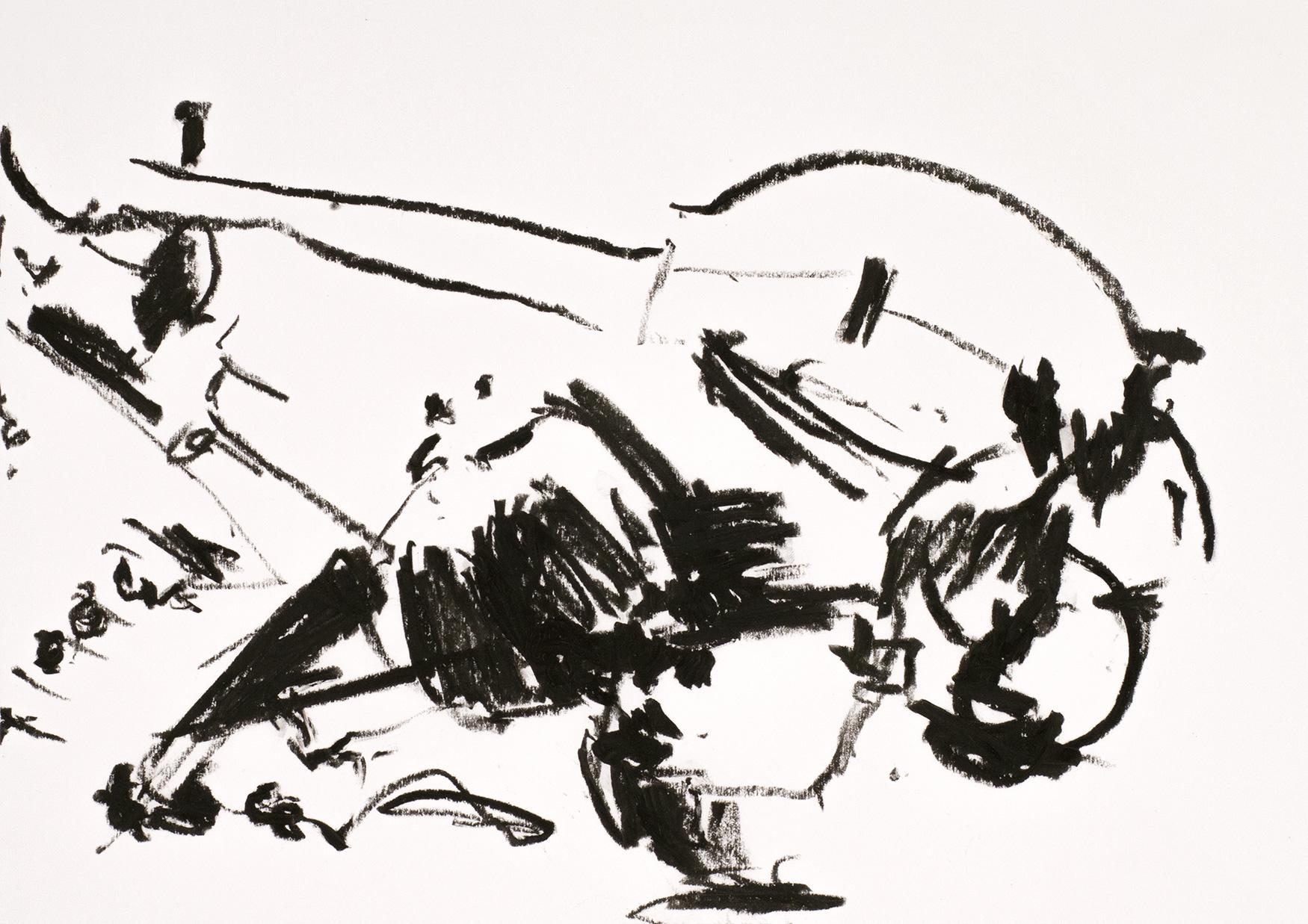 ohne Titel, 2011Ölkreide auf Papier29,5 x 42 cm