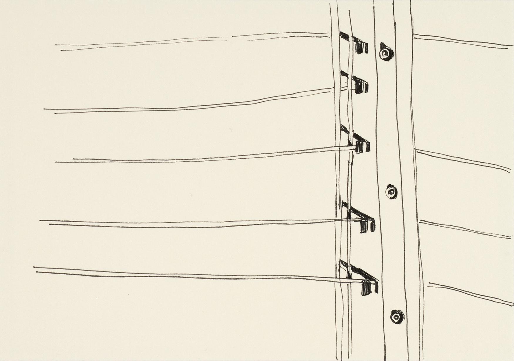 Gitter, mit links, 2015Fineliner auf Papier15 x 21 cm