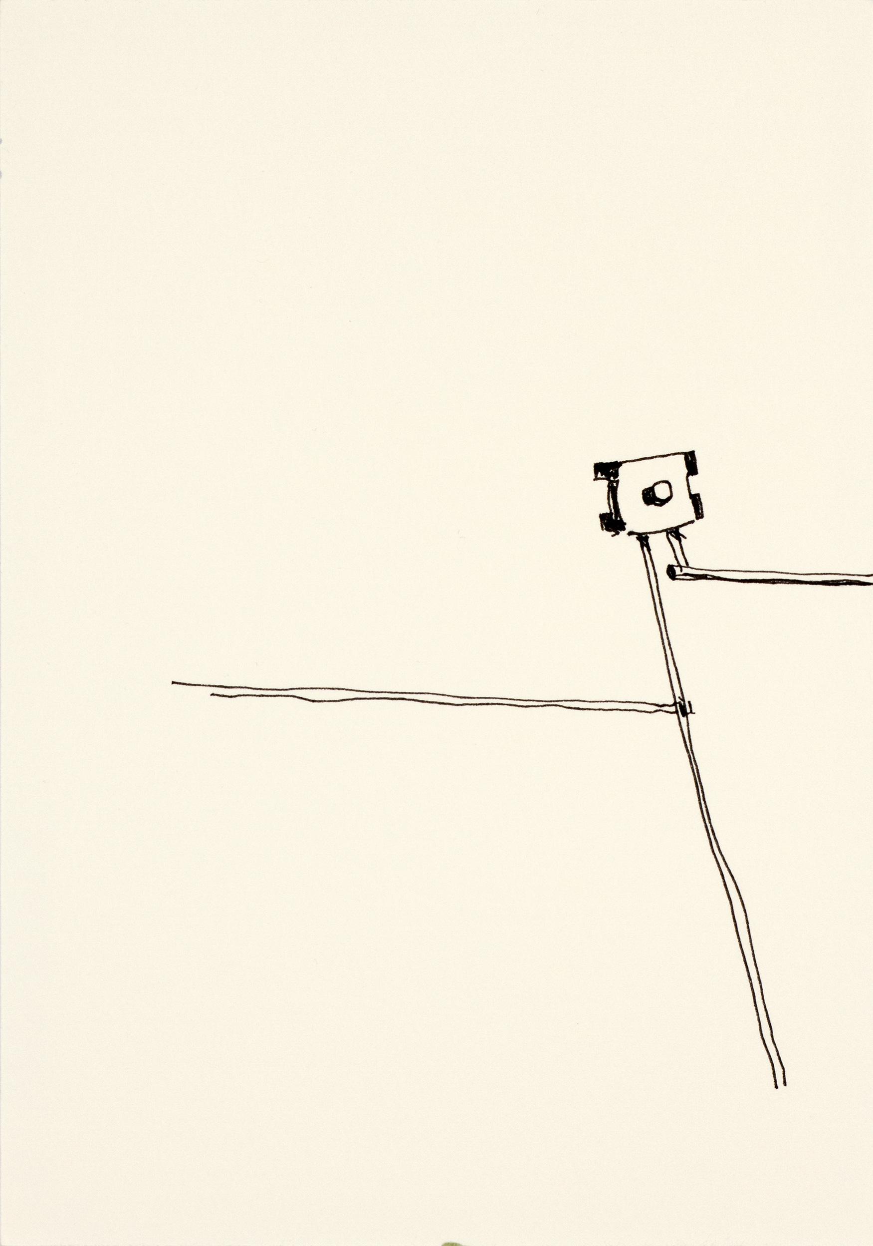 Gitter, mit links, 2015Fineliner auf Papier21 x 15 cm