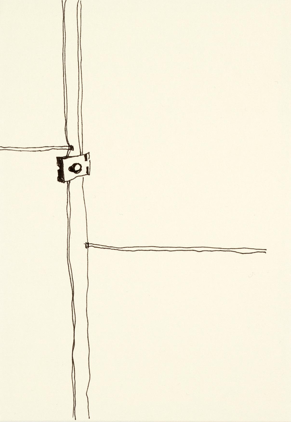 Gitter, mit links, 2015Fineliner, Papier21 x 15 cm